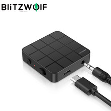 BlitzWolf BW-BL2 2 en 1 transmisor receptor inalámbrico bluetooth5.0 Mini portátil 3,5mm Aux bluetooth adaptador para PC TV auriculares