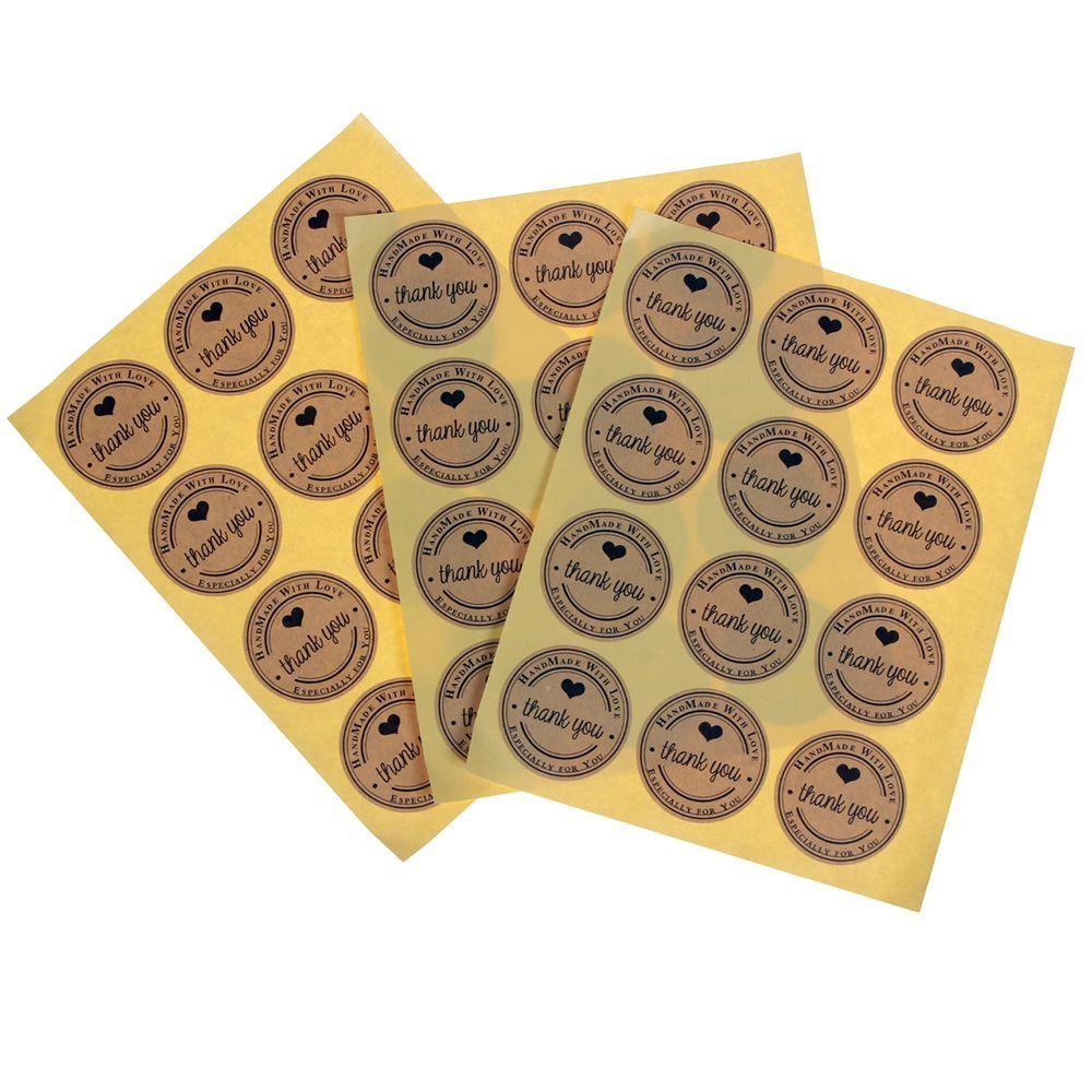 60pcs christmas label sealing adhesive sticker craft wrap gift handmade diy  ST