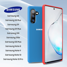 Samsung Note 10 Plus Case Original Official Galaxy S10 S9 S8 S10e 5G 9 8 Soft Liquid Silicone Cover