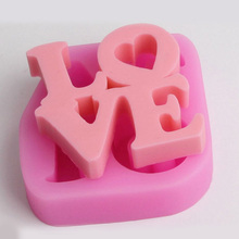 Word LOVE Molds Silicone Cake Candy Baking Mould DIY Handmade Craft Kitchen Baking Accessories Tools e