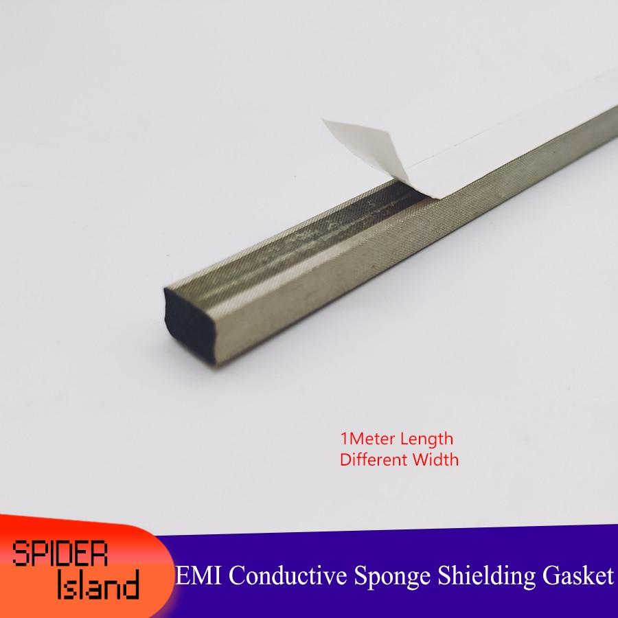 Conductive Foam EMI ESD Shielding Gasket Sponge For Laptop Heat DIY 1000mm Differnent Width