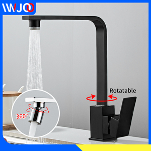 Kitchen Faucet Black Brass 360