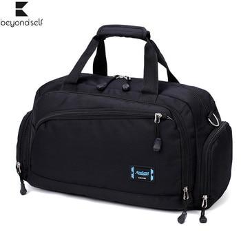 Gym Bags Men Sports Fitness Pack Cylinder One Shoulder Sport Bag Women's Handbags Travel Bags Nylon Waterproof Handbag Package 1