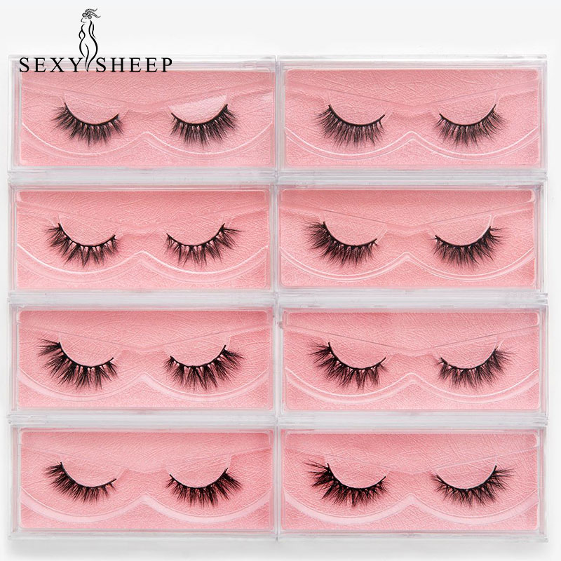 SEXYSHEEP Eyelashes 3D Mink Lashes Wispy Fluffy False Eyelashes Handmade Crisscross Mink Eyelashes Eyelash Extension False Fake