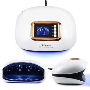 Image 5 - Secador de unha de gel com lâmpada uv led, 72w, com 36 leds, duas lâmpadas, para manicure, cura sensor automático clara exibição do tempo