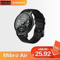 Mibro Air Smart Uhr Männer Frauen IP68 Wasserdichte Bluetooth 5 Schlaf Monitor Fitness Herz Rate Tracker SmartWatch Android IOS