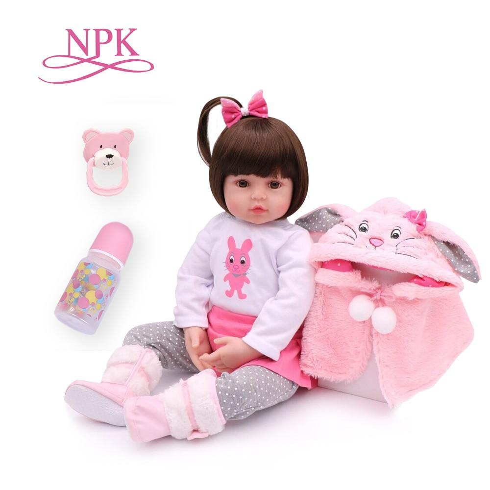NPK 47CM Silicone Reborn Super Baby Lifelike Toddler Baby Bonecas Kid Doll Bebes Reborn Brinquedos Reborn Toys For Kids Gifts(China)