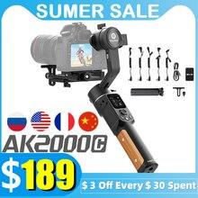 FeiyuTech AK2000C 3 оси Бесщеточный Стабилизатор камеры Gimbal DSLR ручной VLOG съемки для камеры Lumix Canon Sony Nikon Panasonic Fuji