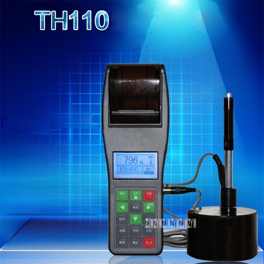 TH110 твердость тестер Портативный цифровой дисплей твердость тестер металлическая труба стальная пластина формы твердомер (170 ~ 960) HLD 12 V/500mA