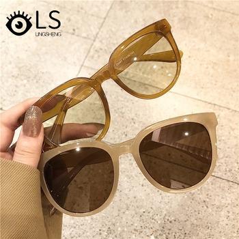 LS luksusowe damskie kwadratowe markowe okulary przeciwsłoneczne projektant okulary przeciwsłoneczne damskie okulary damskie UV400 Vintage okulary przeciwsłoneczne YG096 tanie i dobre opinie CN (pochodzenie) WOMEN SQUARE Dla dorosłych Z tworzywa sztucznego