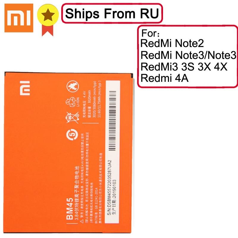 XiaoMi Original Ersatz Batterie BM45 BM46 BM47 BN30 Für Xiaomi Redmi Hinweis 2 Batterie Redmi Note3 Redmi 3 3S 3X 4X RedMi 4A