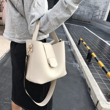 2020 New Style Korean-style Bucket Bag Simple Casual Shoulder Big Bag Large Capacity Hand Different Size Bags women bag bag(China)