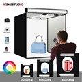 Yizhestudio Foto Studio Box 40cm 60cm 80cm Leuchtkasten Folding Studio Fotografie Box mit Hintergrund Zubehör Schießen Kits