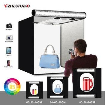 Yizhestudio Photo Studio Box 40cm 60cm 80cm Lightbox Folding Photography with Backdrop Accessories Shooting Kits