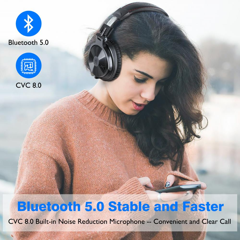 Image 2 - Oneodio Over Ear Bluetooth Headphones Sport Stereo Wired Wireless  Headset Bluetooth 5.0 Headphone With CVC8.0 Mic For Phone AACBluetooth  Earphones