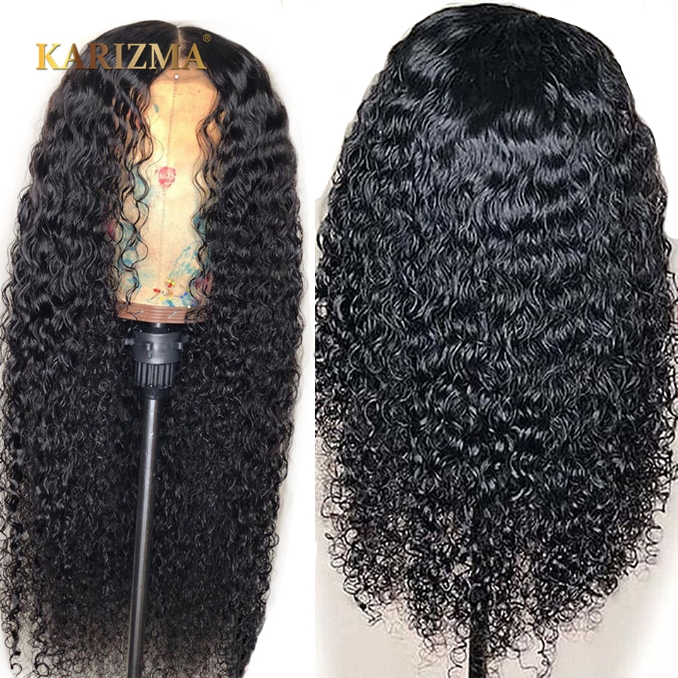 Kinky Curly Wig Glueless Full Lace Wigs 150 Density Wig For Black Women Human Hair With Baby Hair Natural Wig Remy Hair Karizma