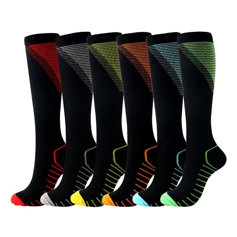 Outdoor Sports Compression Socks Men Women Marathon Socks Long Run Long Tube Breathable Sports Calf Compression Socks Y1