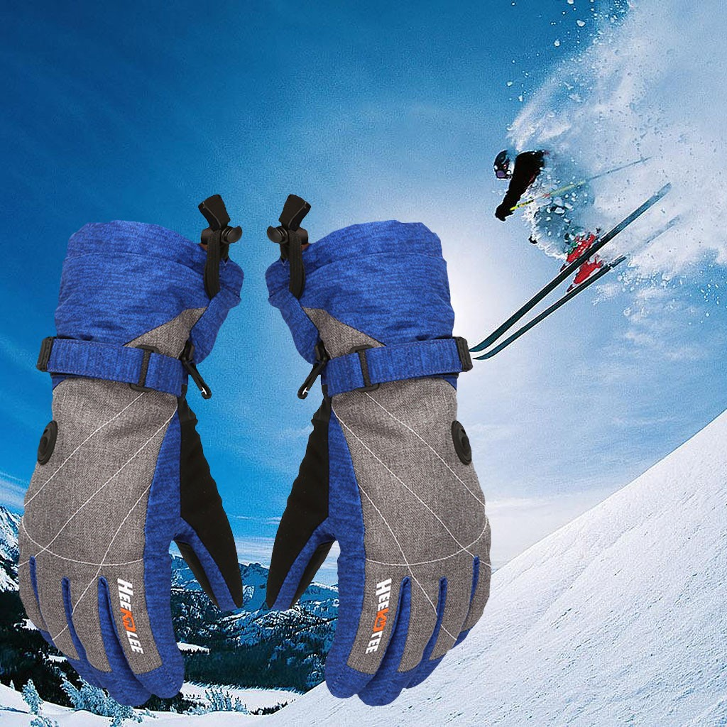 Insulated Winter Cold Weather Ski Gloves Adult Keep Warm Waterproof Windproof