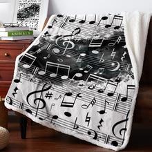 Fleece Blankets White Splatter Black Music And Winter Personalized