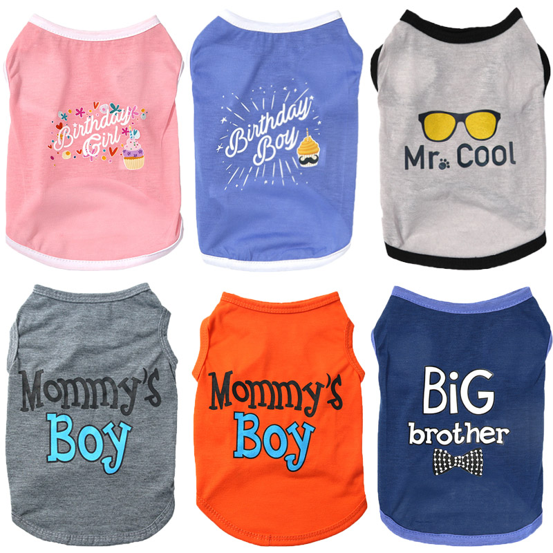Cotton Dog Vest Shirt Cartoon Pets Dogs Clothing For Small Medium Dogs Costume Soft Puppy Clothes Chihuahua Yorkie Cat Pet Vests