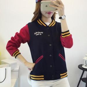 Image 5 - סתיו בייסבול מפציץ מעיל נשים מעיל רוח סווטשירט Harajuku Streetwear מעיל Casaco Feminino chaqueta mujer jaqueta