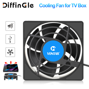 Image 1 - VONTAR C1 Cooling Fan for Android TV Box Set Top Box Wireless Silent Quiet Cooler DC 5V USB Power 80mm Radiator Mini Fan