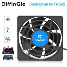 Vontar c1 ventilador de refrigeração para android caixa de tv conjunto superior sem fio silencioso silencioso refrigerador dc 5v usb power 80mm radiador mini ventilador