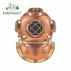 EARLFAMILY 13cm For Diving Helmet Fine Decal Custom Printing Car Stickers Personality Creative Sunscreen Waterproof Decoration