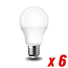 6 قطع YNL E27 لمبة LED التيار المتناوب 220 فولت SMD2835 3 واط 5 واط 6 واط 9 واط 12 واط 15 واط 18 واط 20 واط لمبة توفير الباردة الدافئة الأبيض لمبات Led للضوء في الهواء الطلق