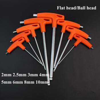 1 2 2 3 4 5 6 8 10mm płaski głowica kulowa klucz sześciokątny klucz imbusowy narzędzie ręczne t-uchwyt klucz sześciokątny klucz imbusowy końcówka kulowa klucz sześciokątny klucz imbusowy klucz tanie i dobre opinie RIERPSI CN (pochodzenie) Stal z chromu-wanadu T-TYPE