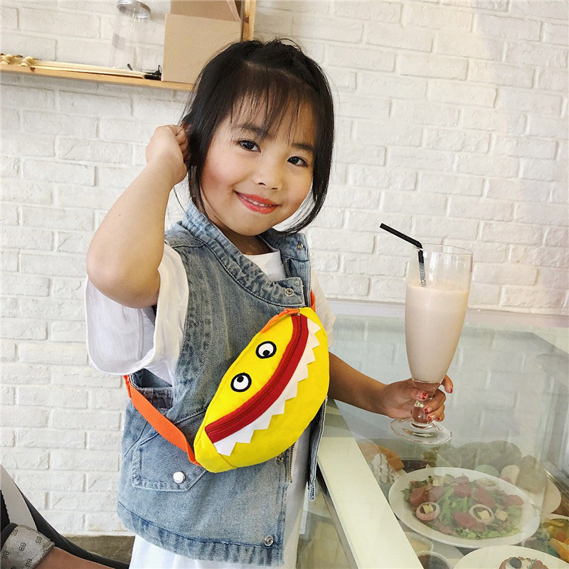 The New Child Waist Bag For Kids Monster Chest Bag Women Belt Pack High Capacity Funny Bag Banana Bags Kidney Crossbody Bag