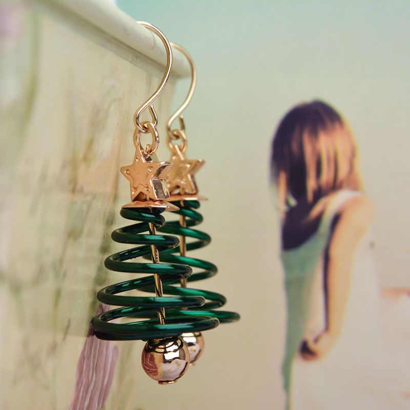 חדש טרנדי הצהרת עגילי עץ חג המולד עבור נשים סנטה קלאוס איש שלג זרוק עגילי תכשיטי בנות חג המולד מתנות סיטונאי