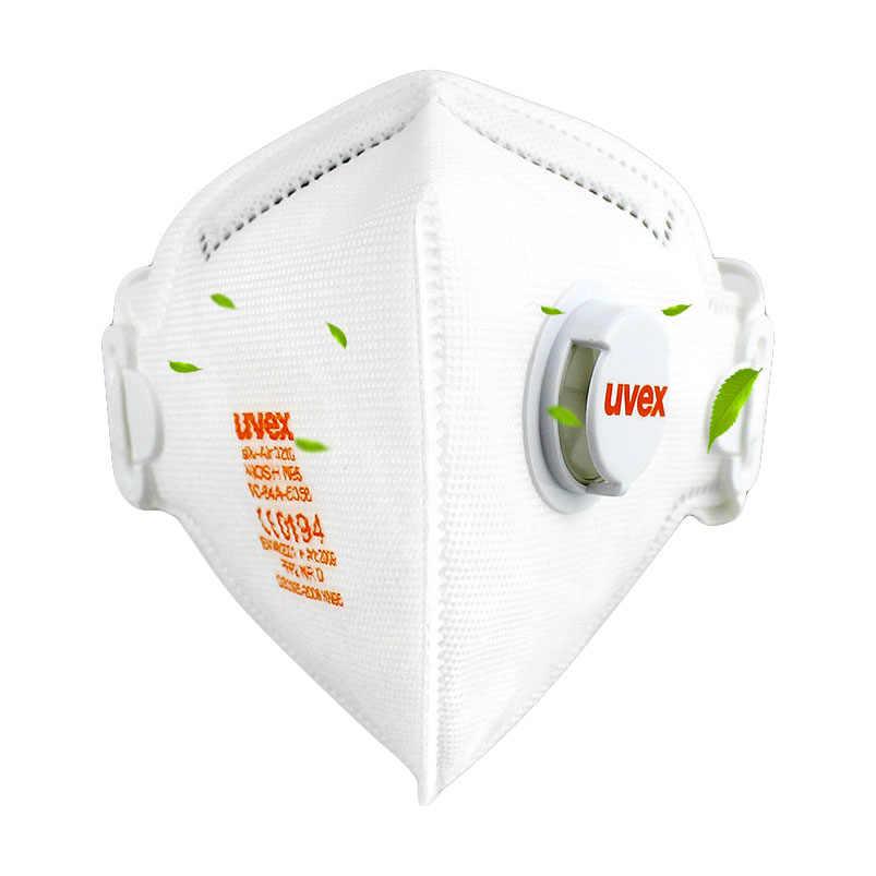 UVEX 3210 الغبار قناع مكافحة الضباب PM2.5 كمامة تنفس دقائقية FFP2 مستوى قناع واقٍ الغبار المطبخ سلامة العمل أقنعة