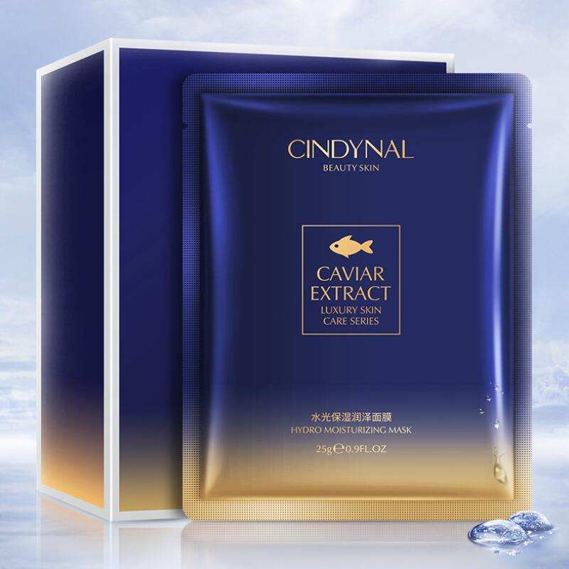 Face Mask Moisturizing Facial Skin Care Masks For The Face Caviar Essence Hydration Oil-control Sheet Mask