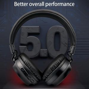 Image 4 - MS k21 ポータブルワイヤレスの Bluetooth ヘッドフォン Bluetooth 折りたたみヘッドセットオーディオ Mp3 調整可能なイヤホンで音楽のためのマイク