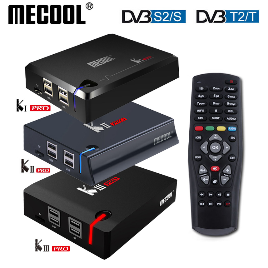 MECOOL KI Pro KII KIII Pro DVB T2 S2 Android TV Box 3G 16G Amlogic S912 DDR4 Octa Core 4K Decoding 2 4G 5G Set Top Media Player