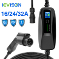 Type 1 EV Portable Electric Vehicle Charger Level 2 32Amp EVSE , CEE Plug 220V-240V Holder Car Charging Cable,SA-E J1772