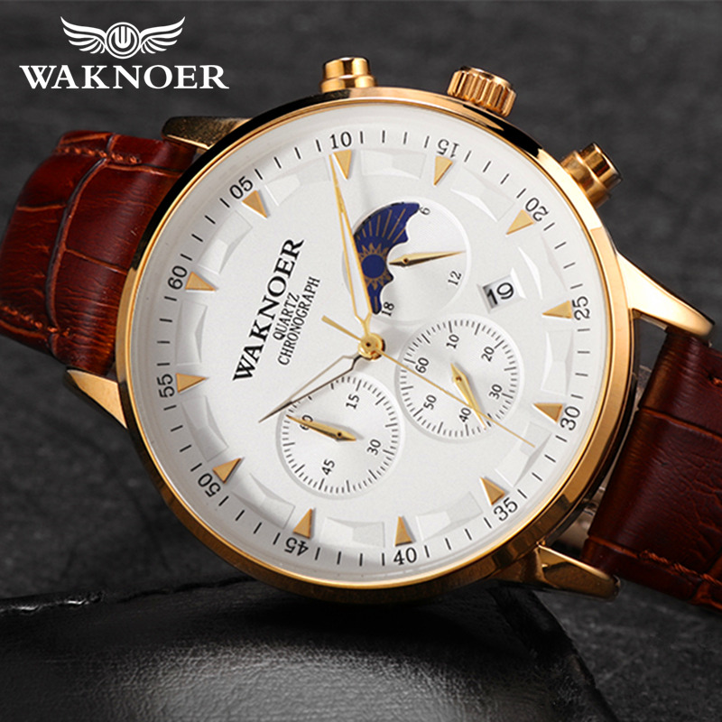 New WAKNOER Brand Watch Waterproof Wristwatch Men's Watches Relogio Masculino Watch Men Fashion Reloj Hombre Male Clock Time