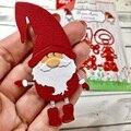 Набор металлических штампов с Санта-Клаусом, искусственное тиснение 2020, новые рождественские штампы