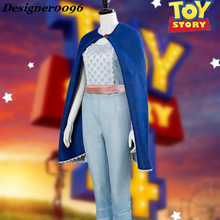 Movie Toy Story 4 Bo Peep Cosplay Costume 2019 New Actress with the same clothes Halloween costume from woman