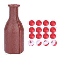 1 ensemble billard Shaker bouteille billard jeu Kelly piscine Shaker bouteille avec 16 billes numérotées dés boîte billard équipement