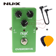 NUX OD-3 Overdrive Electric Guitar Effect Pedal True Bypass Warm tube natural overdrive sound Guitar Pedal With Free Connector biyang x drive overdrive guitar effect pedal stompbox for electric guitar chipset changeable to create diffenet tone od 8