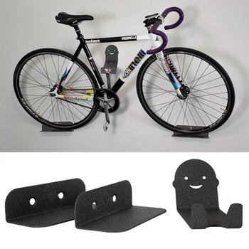 Stojaki na rowery stojaki na rowery stojaki na rowery stalowe pedały rowerowe wieszak ścienny uchwyt MTB Bike akcesoria rowerowe tanie i dobre opinie CN (pochodzenie) Parking regały STEEL full size Bike Parking Racks 25kg