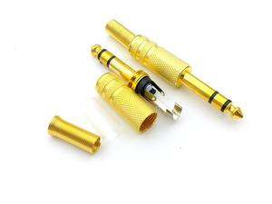 Image 2 - 50PCS זהב 6.35mm (1/4 ב) שקע זכר סטריאו תקע שמע מחבר