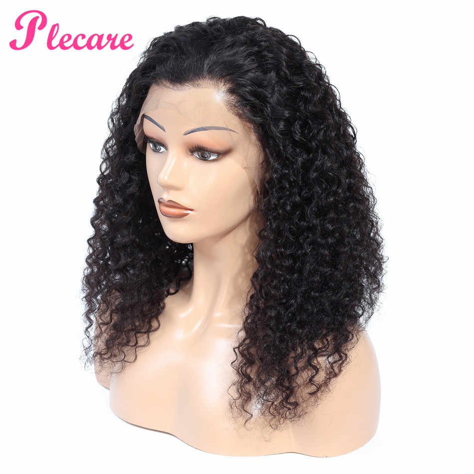 "Plecare 13*5 Curly Human Hair Wig Lace Front Human Hair Wigs 10""-22"" Long Brazilian Lace Front Remy Human Hair Wigs"