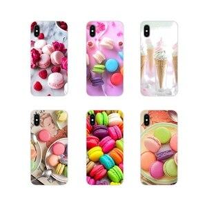 Десертное мороженое laduree Macarons для Samsung Galaxy S2 S3 S4 S5 Mini S6 S7 Edge S8 S9 S10E Lite Plus прозрачный мягкий чехол-сумка