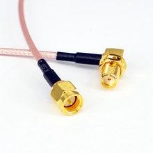 100 шт радиочастотный адаптер разъем sma кабеля гнездо правоугольный