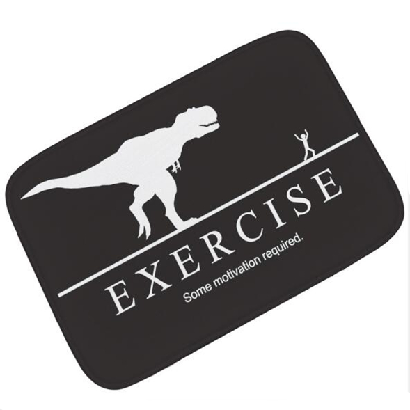 Funny Exercise Some Motivation Required Fitness Gym Doormat Running T Rex Inspiration Motivational Workout Door Mat Rug Carpet Mat Aliexpress