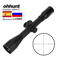 ohhunt Guardian 10X44 SF Hunting Optical Riflescope Wire Reticle Side Parallax Shooting Scope Sight for Tactical Rifle