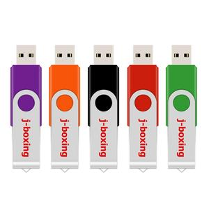 Image 3 - J boxing USB Flash Drives Thumb Drive Metal Swivel Pendrives 1GB 2GB 4GB 8 GB 16 GB 32 GB Multicolor for PC Mac Tablet 5PCS/Pack